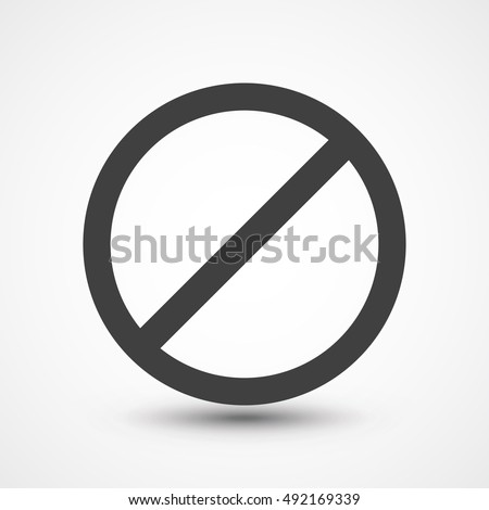 stop icon no sign symbol