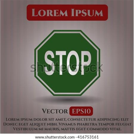 Stop icon or symbol