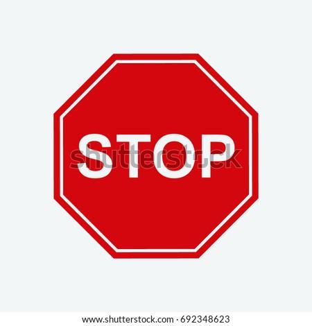stop icon vector #692348623