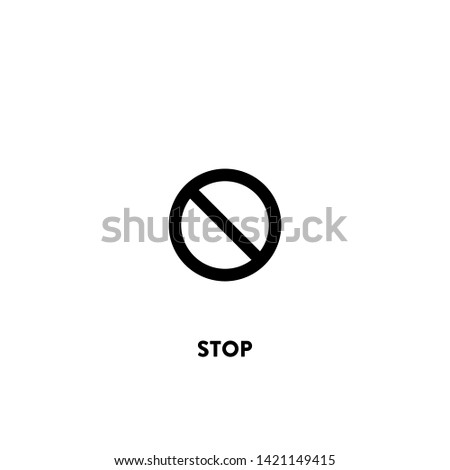 stop icon vector. stop sign on white background. stop icon for web and app