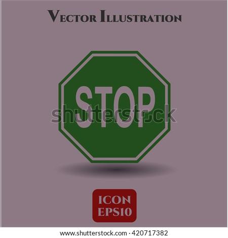 stop icon vector symbol flat eps jpg app web concept website