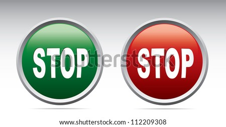 Stop icons. Vector