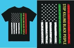 Stop killing black people-vector t shirt design