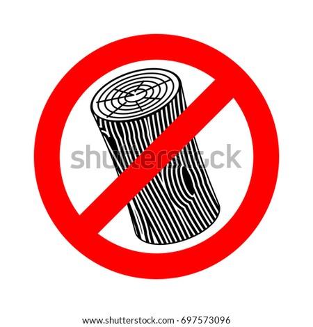stop log sign wooden billet