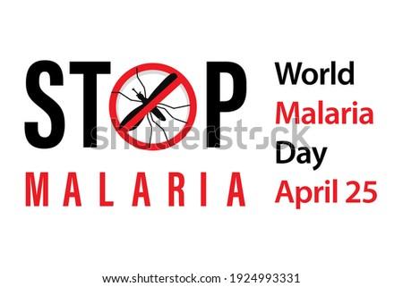 stop malaria World Malaria Day banner in red black vector Foto d'archivio ©
