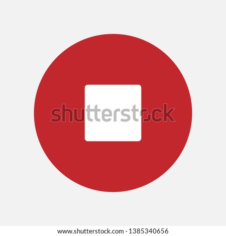 Stop Mark Sign Icon Vector Illustration. #1385340656