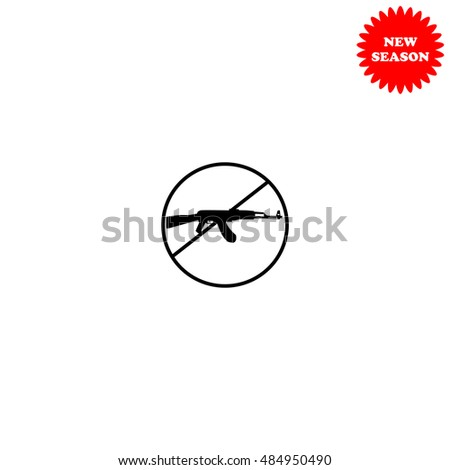 stop of military vector icon