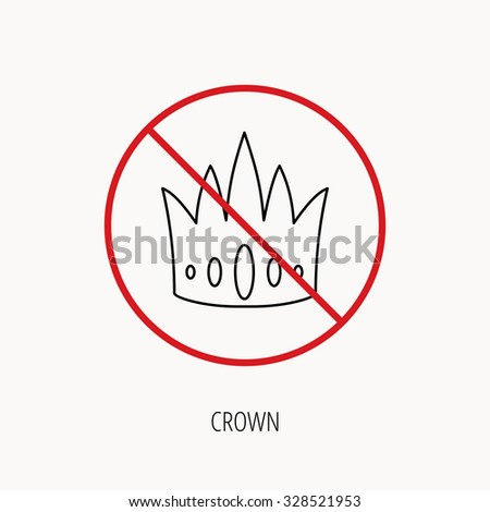 stop or ban sign crown icon
