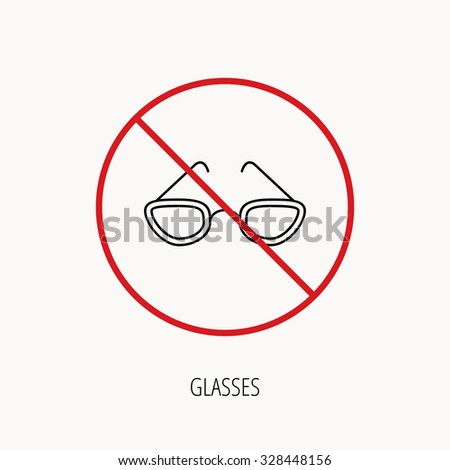 stop or ban sign glasses icon