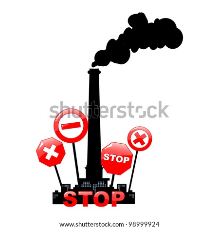 stop pollution environmental background - vector illustration