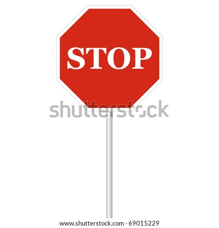 Stop post isolated on white vector