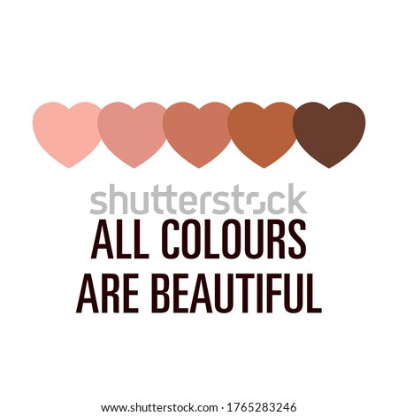stop racism all colors are