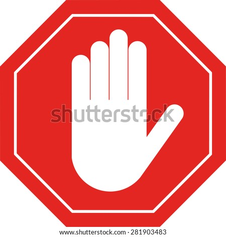 Forvictory.com - Página 6 Stock-vector-stop-red-octagonal-hand-sign-for-prohibited-activities-emblem-flat-style-281903483