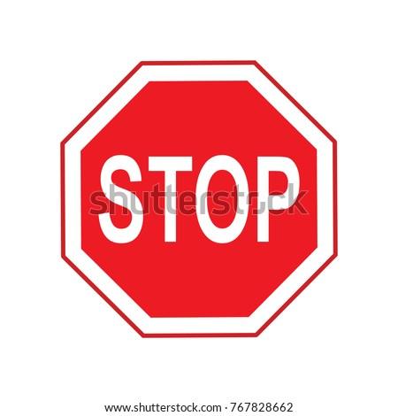 stop red octagonal logo #767828662
