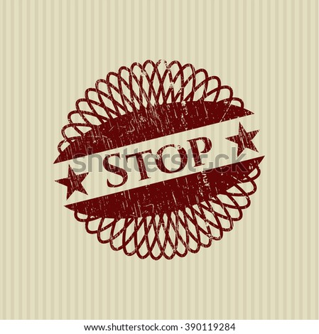 Stop rubber grunge seal