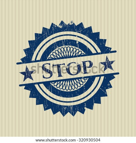 Stop rubber grunge texture stamp