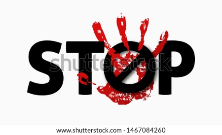 Stop sexual harassment . Prevent fraud . Warning concept .