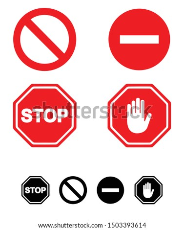 stop sign and symbol in vector file