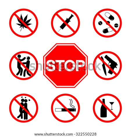 stop sign do not smoke  not