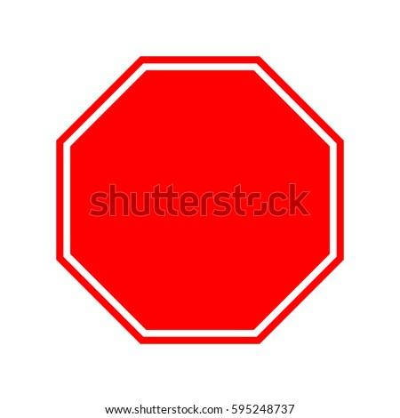 Stop sign (empty). #595248737