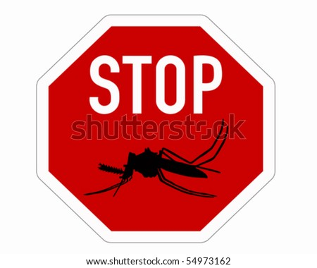 Stop sign for mosquitoes