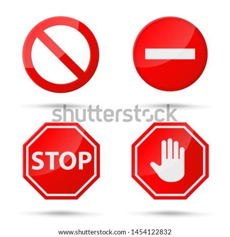 Stop sign icon Notifications that do not do anything.