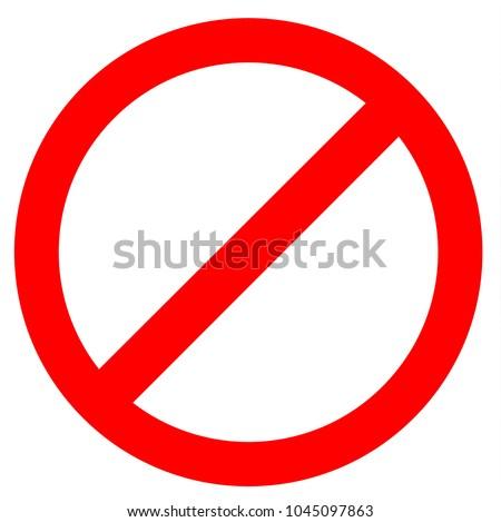 stop sign icon on white background Foto stock ©