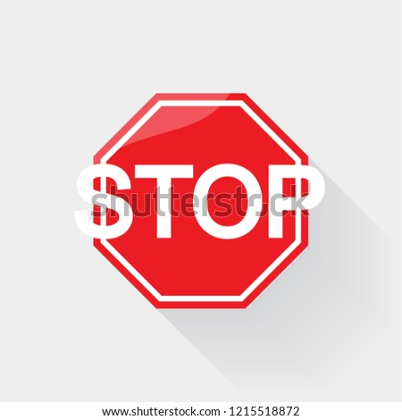 Stop sign icon. Traffic stop sign. Vector, illustration