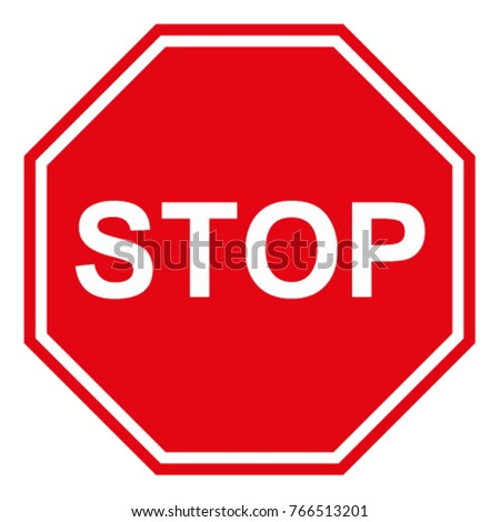 Stop sign is a traffic sign design by vector. #766513201