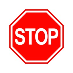 Stop Sign isolated on white background