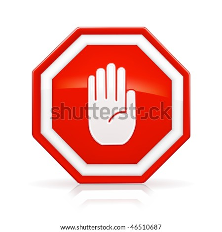stop sign  mesh