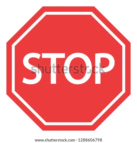 stop sign on white background #1288606798