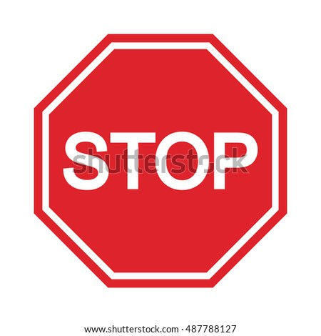 Stop Sign , Symbol icon #487788127