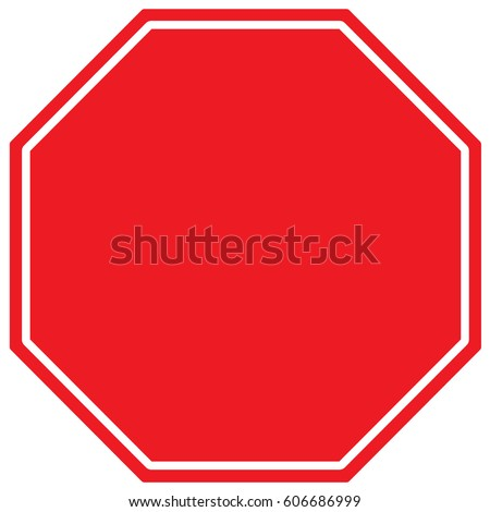 Stop Sign Template. Vector.