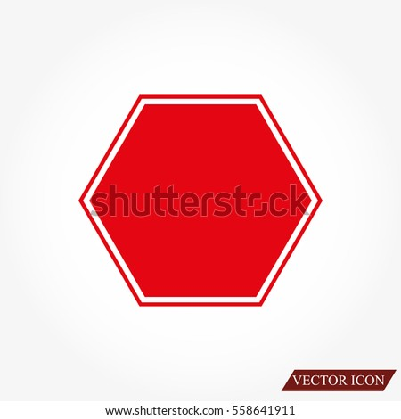 Stop sign. Traffic stop sign