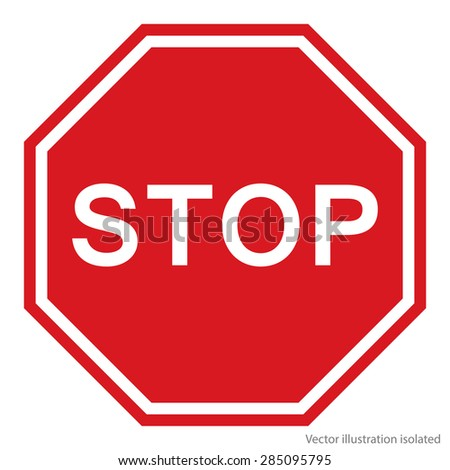 Stop Sign - Vector #285095795