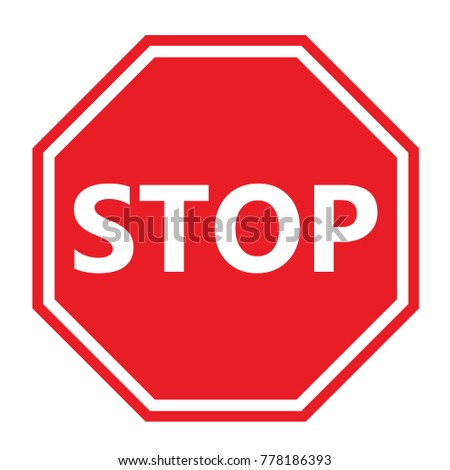 Stop sign vector #778186393