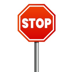 Stop sign vector. Eps 10 vector illustration.