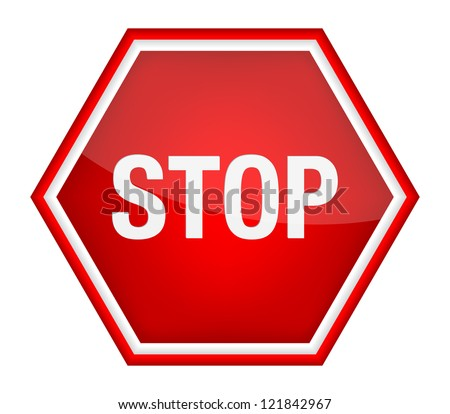 Stop sign. Vector illustration