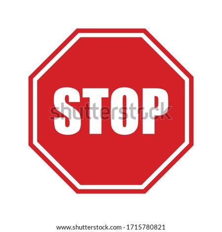 Stop Sign Vector stock illustration