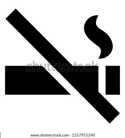 Stop smoking glyph icon
