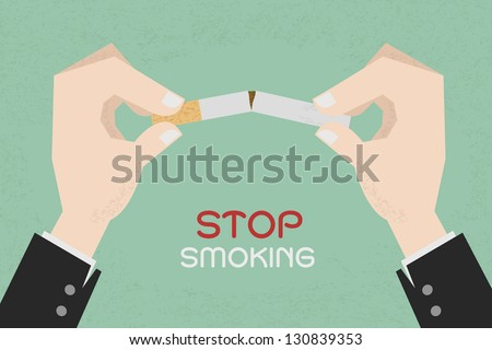 stop smoking  human hands