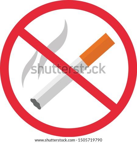 Stop smoking no smoking forbidden sign symbolTemplate Design. No smoking sign for Design, Presentation, Website or Apps Elements. vector flat icons cartoon design eps10 illustration
