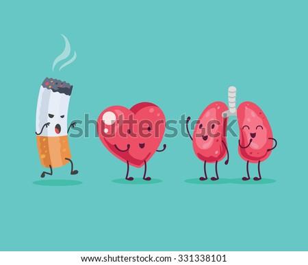 stop smoking vector cartoon