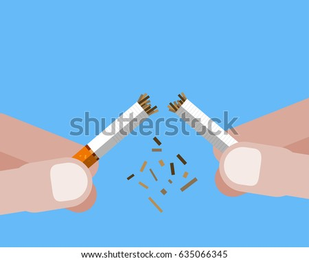 stop smoking with human hands