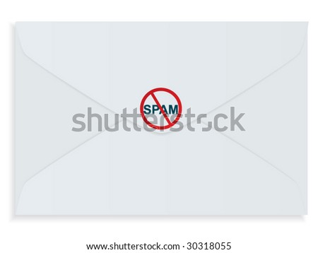 Stop SPAM! - stock vector