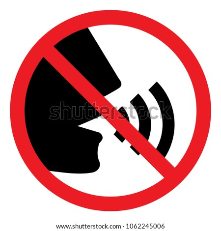 Stop talking vector sign on white background