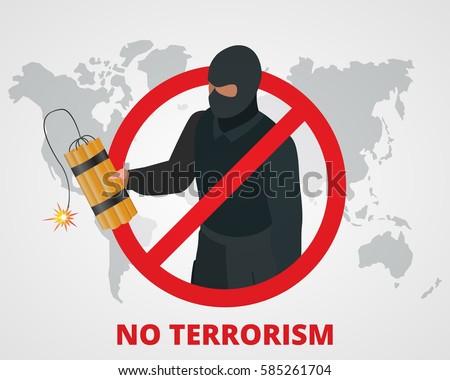 Stop terrorism. Terrorism is forbidden.
