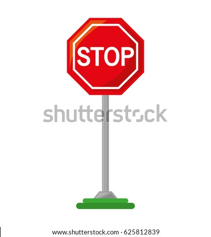 stop traffic signal isolated icon