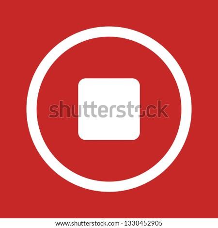 Stop Vector Icon #1330452905